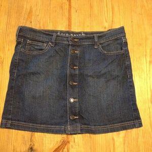 High-Waisted Button Down Jean Skirt